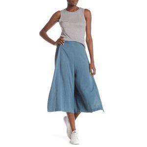 CODEXMODE Wide Leg Capri Pants Blue Size S